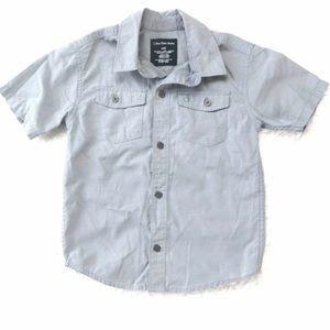 Calvin Klein Boy's Short Sleeve Button-up Top M5